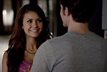 "The Vampire Diaries / Jewelry by Andrea's original design ""Garnet Moon"" worn by Nina Dobrev on ""The Vampire Diaries"""