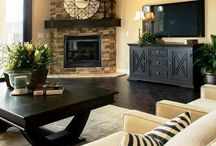Corner fireplace furniture