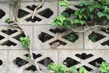 ブロック塀 / ブロック塀の和柄がたまらん