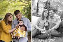 posing family