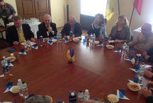 Vizită ministru delegat pt. relaţiile cu românii de peste hotare, Angel Tîlvăr, în regiunea Odessa / (foto: MAE)