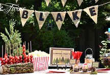 Camping/outdoor theme party