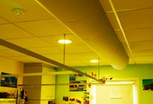 Dublin Children's Hospital / Recent Fabric Ducting Installation at Dublin Children's Hospital where lay in grid diffusers were replaced with Half Round Prihoda Fabric Ducts so that beds and furniture in the wards can be moved and repositioned anywhere with out experiencing draughts.