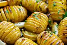 lemon herb roasted potatos -hassleback