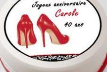 Déco Gâteau anniversaire Féminin