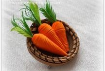 quilled carrots