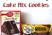 THINGS TO MAKE WITH CAKE MIX!!! / by Marjorie Etheridge Ward