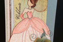 Inspiración Prima Doll / Recopilación de trabajos de crafters de todo el mundo para inspirarnos a crear con los sellos Prima doll, diseñados por Julie Nutting, para Prima Marketing.