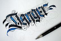 caligrafia gotica