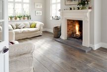 oak floor living room