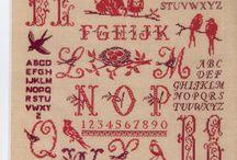 letter-merklappen en varianten / by Marianne Bosgraaf
