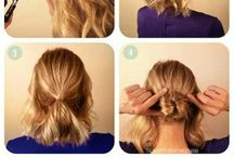 Mid length updo