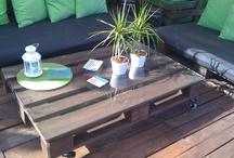 Mesas exterior recicladas