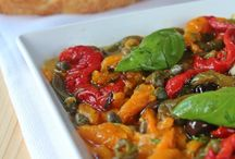 Antipasti di verdure / Insalata di peperoni olive