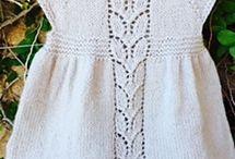 Strik kjoler til små piger