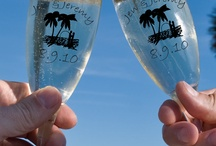 Wedding and Personalized Reception Favors / Personalized Wedding and #Bridal Favors. #Customizable #wedding #glassware. From personalized #champagne glasses, #mugs, and #votive holders, to personalized #shot glasses