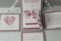 Stampin Up Hochzeit / DIY Hochzeitskarten, Hochzeitseinladungen, Gastgeschenke,Geldgeschenke,Tischdeko,