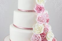 Sam's Wedding Cake Ideas / Baby pink and white 3 tier (although I know not all these are pink or 3 tier, but for ideas and can be adapted)