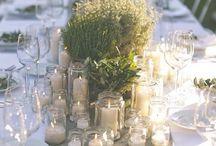 arreglos velas y flores