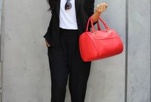 red shoes & bag