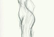 WOMAN / Drawing and sketching woman