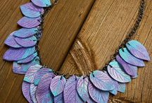 Fimo Blumen, Blätter, Federn, Flügel...