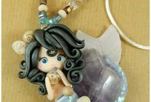 mermaids pilymer clay