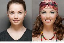 Vorher - Nachher Make up / Typgerechtes Make up für jede Frau. Wunderschöner Vorher - Nachher Effekt