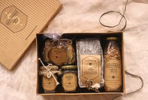 Gourmet Gifts / A stylish selection of delicious gourmet gifts filled with artisanal food items.