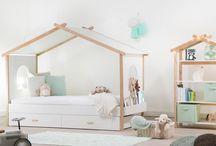 Łóżko Dom(ek) w pokóju dziecka