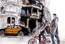 ilustraciones urbanas