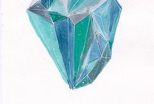 watercolor minerals