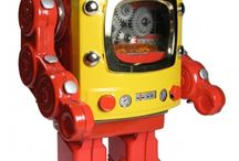 Robot Space Tin Toys