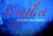 Susan Moonen / Op haar vijftiende plaatste Lemniscaatkrant haar eerste verhaal. Van 2009 tot 2013 schreef Susan verhalen voor Ik vertel. In 2010 en 2013 volgden er publicaties in een verhalenbundel. Met het verhaal Gevaarlijk blauw won ze in 2012  de Schrijversprijs. Ook verzorgde ze precies één jaar lang elke vrijdag een column voor Gezinspiratie. Ze richt zich nu, als vervolg op de gemaakte schrijfmeters, op het schrijven van boeken.