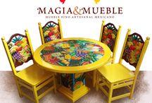 Muebles con Magia de México.
