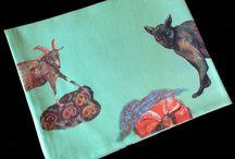 Linens - Land & Sea ceramics - Sara Mailis