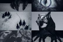 werewolf head art