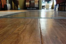 Hardwood flooring / Vinyl  / We've expanded and added a wood/vinyl flooring section. Here's just a small look at some of the many exotic wood floors we have on display and installed in our very own showroom at Creative Tile in Fresno, Cal.