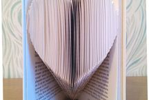 Folded Book Art / Folded book art is a great gift to amaze people. A lot of people haven't seen this kind of book art before and will be intrigued by the way it looks. It's a real unique and handmade gift for a wedding, anniversary, birthday or Christmas. Or actually any occasion you can think of.