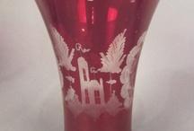 Cranberry Bohemian glass