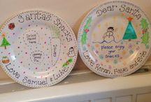 Santa plates