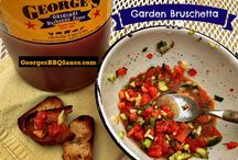 "Appetizers ~ George's BBQ Sauce Recipes / Enjoy our tasty sauces at your parties and tailgate gatherings!  A few of the ""usuals"" but we love crawling ""outside the bottle"" with our recipes too!"