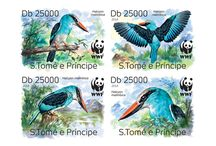 New stamps issue released by STAMPERIJA | No. 431 / SÃO TOMÉ AND PRÍNCIPE (São Tomé e Príncipe) 08 08 2014 Project in co-operation with WWF - Code: ST14320a-d