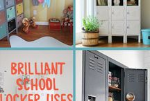 Creative Ideas For Lockers / Vintage and New Metal Lockers Used Outside Of School!