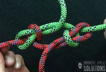 Knots, hitches and uses, splicing and whipping