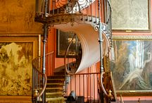 Escadas para o andar de cima da casa