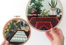 Cacti Embroidery / Cacti Embroidery by Sarah K Benning
