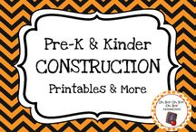 Construction Theme / Construction theme activities, ideas and printables for you preschool or kindergarten construction unit curriculum.  Explore tools, construction vehicles, construction workers and demolition!