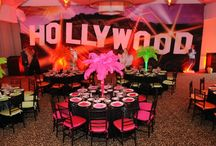 Hollywood Red Carpet Theme / Welcome to our board with tons of ideas for a Hollywood Red Carpet theme. View more inspiration, including nearly 100 Theme Ideas and Free Bar & Bat Mitzvah and Party Planning Tools at www.mazelmoments.com. Thank you and enjoy! / by Mazelmoments.com