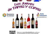 Jueves de tapas y copas 2016 / Como muchos sabéis, existe desde hace algunos años, una iniciativa de la AEHV para promover el tapeo en Valladolid los jueves. De esta manera y a través de un listado conocemos el nombre de los establecimientos que sirven los jueves su tapa y vino a 2,20 € (precio recomendado).